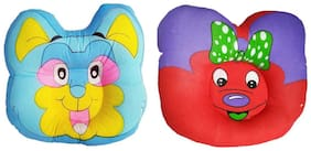 Jars Collections Set Of 2 Soft And Comfortable Baby Pillow-Multi