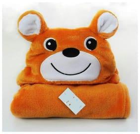 JBG Home Store All Season Luxury Clothing Hooded Wrapper/Blanket/Towel For Babies (Pack Of 1) Rust