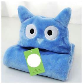 JBG Home Store All Season Luxury Clothing Hooded Wrapper/Blanket/Towel For Babies (Pack Of 1) Blue