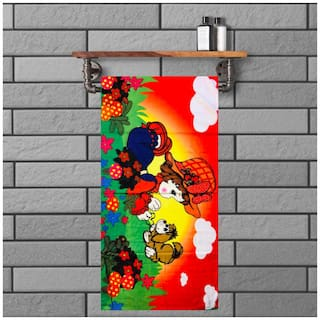JBG Home Store  BabyTowel Design  Large Multicolor Soft Terry Cotton Kids Towel (Pack Of 1)