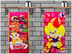 JBG Home Store  BabyTowel Combo  Large Multicolor Soft Terry Cotton Kids Towel (Pack of 2)