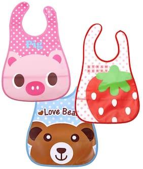 JBG Home Store (3 Printed Bib 2) Waterproof Baby Feeding Bib(Pack of 3)
