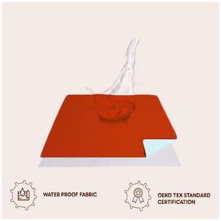 JC Instadry Extra Absorbent Dry Sheet/Bed Protector/Waterproof Baby Dry Sheet (Rust;Medium )