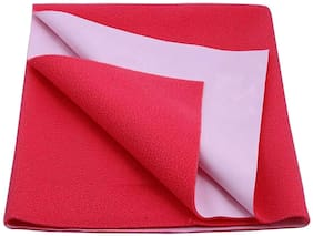JC Jaipur Crafts Instadry Extra Absorbent Dry Sheet/Bed Protector/Waterproof Baby Dry Sheet (Red;Small  )