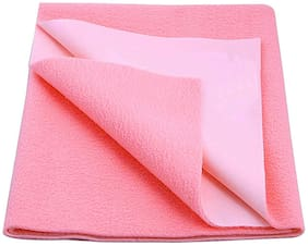 JC ( Jaipur Crafts ) Instadry Extra Absorbent Dry Sheet/Bed Protector/Waterproof Baby Dry Sheet (Pink Color) Large (142.24 cm x 99.06 cm x 1 cm )