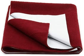 JC ( Jaipur Crafts ) Instadry Extra Absorbent Dry Sheet/Bed Protector/Waterproof Baby Dry Sheet (Maroon Color) Large (142.24 cm x 99.06 cm x 1 cm )