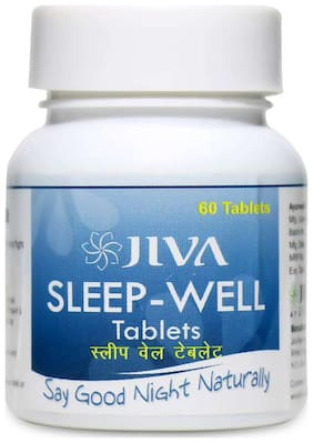 Jiva Ayurveda Sleep-Well Tablets 60 tablets Pack of 4