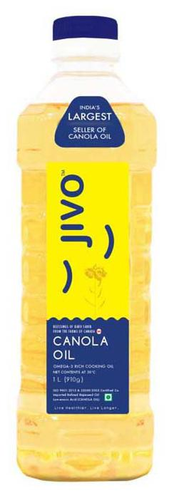 Jivo Canola Refined Oil 1 ltr (Pack of 6)