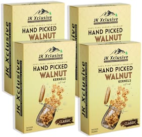 JK Xclusive Walnut Kernels (Classic Quality) 1kg Akhrot Giri, Pack of 4x 250g each