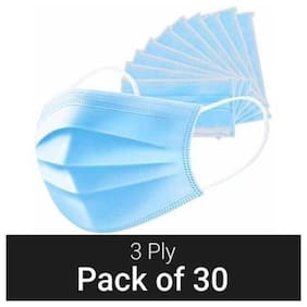 Jmo27Deals 3 Ply Mask With Earloop (Pack Of 30)