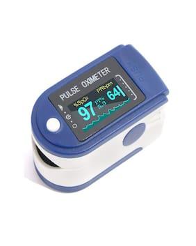 JO Body Safe Blue Digital Finger Pulse Oximeter Blood Oxygen Saturation Monitor (Pack Of 1)