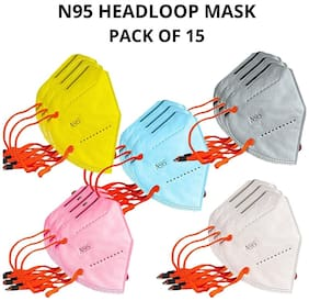 JO N95 Face Mask HEAD-LOOP MULTI COLOR Mask (5 Layer Without Filter) Washable Reusable Anti Pollution  MASK