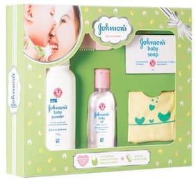 Johnson & Johnson Baby Care Collection - with Organic Cotton Bib & Baby Comb 5 pcs