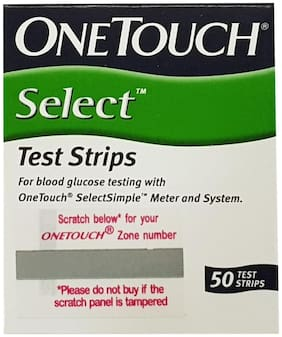 Onetouch Select 50 Test Strips Box