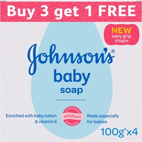 Johnson's Baby Soap 100g Buy 3 Get 1 Free