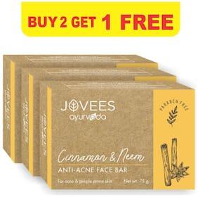 Jovees Herbal Cinnamon & Neem Anti-Acne Face Bar Buy 2 Get 1 Free 75g Each