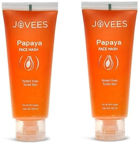 Jovees Pack of 2 Papaya Face Wash (120 ml)(Pack of 2)