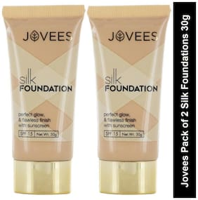 Jovees Pack of 2 Silk Foundation(30g each) Pack of 2