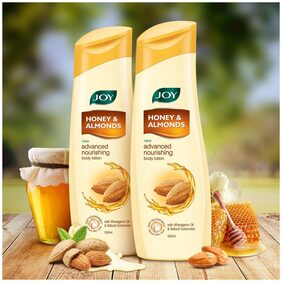 Joy Honey & Almonds Advanced Nourishing Body Lotion(Pack of 2 X 300 ml)