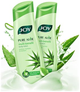 Joy Pure Aloe Multi-Benefit Body Lotion(Pack of 2 X 300 ml)