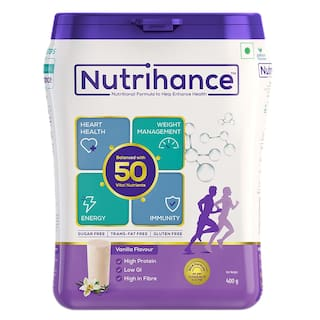 Jubilant Nutrihance - Immunity Booster, Nutritional Drink Helps Promote Heart Health, Weight management and improved Energy (Vanilla) 400g