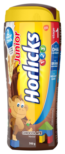 Buy Junior Horlicks Stage 1 2 3 Years Health Nutrition Drink Chocolate Flavor 500g Pet Jar Online At Low Prices In India Paytmmall Com