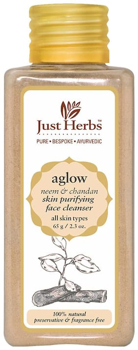 Just Herbs Aglow Neem-Chandan Skin Purifying Face Cleanser 65 g Pack Of 1