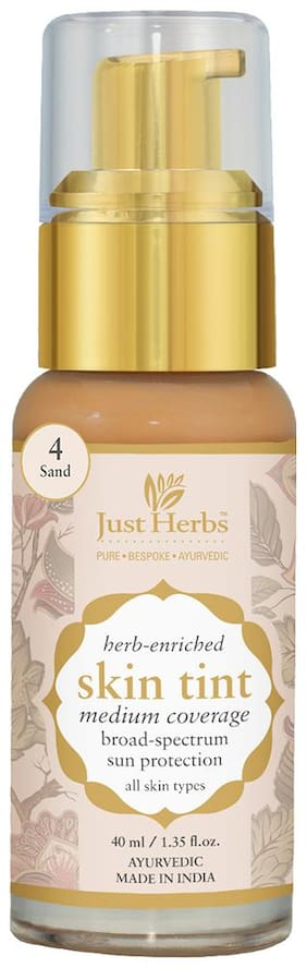 Just Herbs Just Herbs Skin Tint- 4 - Sand 40 ml Pack Of 1
