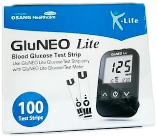 K-Life GluNEO Lite 100 Strips (Pack of 1)
