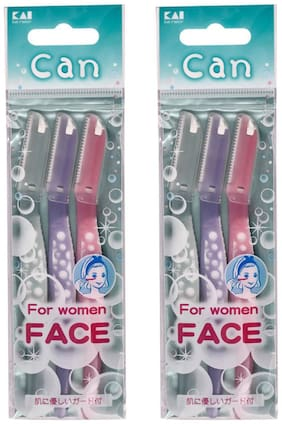 Kai Can For Women Face Razor (3 pcs)(Pack Of 2)