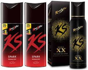 Kamasutra Combo Offer( Pack Of 3) (Spark-150ml + Spark-150ml + Double XX-120ml)