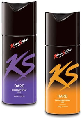 KamaSutra Dare and Hard Deodorant Body Spary for Men (150ml each) (Pack of 2)
