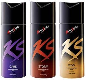 Kamasutra Dare Storm Woo Deodorants (Pack Of 3) -For Men-150 Ml Each