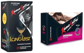 Kamasutra Desire Dotted 20s & Long Last 20s Condoms