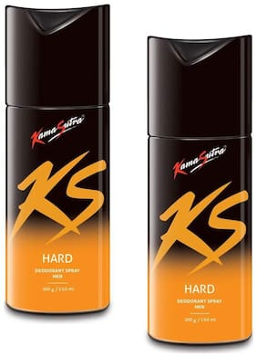 KamaSutra Hard Deodorant Body Spary for Men (150ml each) (Pack of 2)