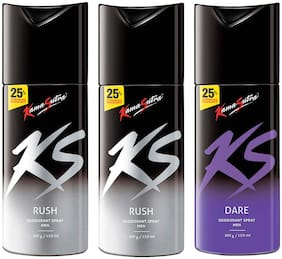 Kamasutra Rush, Rush & Dare Deo Sprays - 150 ml Each