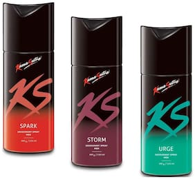 KamaSutra Spark Storm and Urge Deodorant Body Spary for Men (150ml)(Pack of 3)