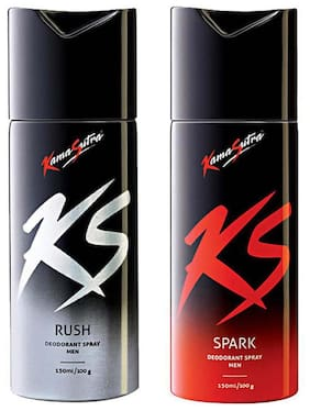 Kamasutra Rush And Spark Deo(Pack Of 2) For Men (150 Ml Each)