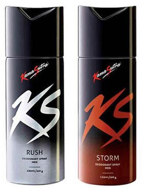 Kamasutra Rush And Storm Deo(Pack Of 2) For Men (150 Ml Each)