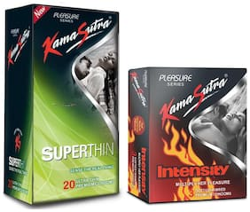 Kamasutra Superthin 20s & Intensity 3s Condoms - (Pack of 2)
