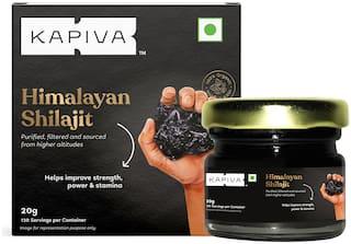 Kapiva Himalayan Shilajit Resin, 20g | Rich in Fulvic Acid | For Strength, Power & Stamina