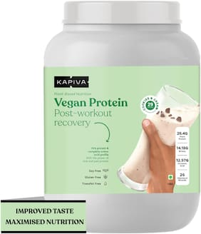 Kapiva Vegan Protein - Cookies & Cream (Post-Workout Recovery), 1 kg