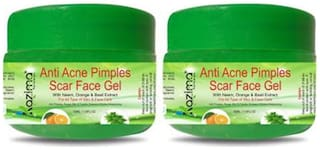 KAZIMA Anti Acne Pimples Scar Face Gel (50 ml Pack of 2) - Anti Pimples, Rough Skin & Freckle Ointment Winkles Moisturizing For All Type of Body, Skin & Face