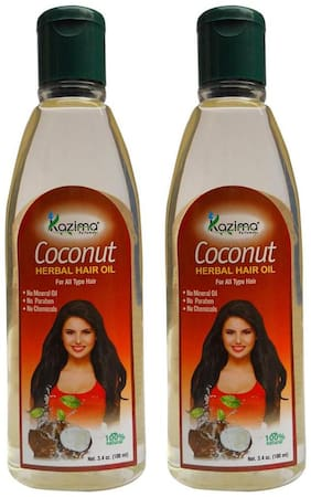 Kazima Coconut Herbal Hair Oil (Pack Of 2) Ideal For Reduces Hair Fall Hair Fall Control Hair Growth & Dandruff (100 ml )
