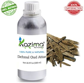 KAZIMA Dehnul Oud Attar Perfume For Unisex (500 ml) - Pure Natural Undiluted (Non-Alcoholic)