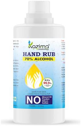 KAZIMA Hand Sanitizer 70% Isopropyl Alcohol Based Instant Germ Protection Rinse-free Liquid Hand Rub;1 L (Pack of 1)
