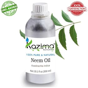 Kazima Neem Cold Pressed Carrier Oil (300 Ml) 100% Pure Natural & Undiluted For Skin Care & Hair Treatment