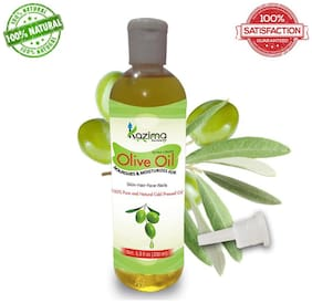 Kazima Olive Carrier Oil 200 Ml - 100% Pure Natural Cold Pressed Carrier Oil Ideal For Hair Growth Skin Treatment Acne Scars Face Skin Pigmentation