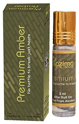 KAZIMA Pure Natural Premium Amber Apparel Concentrated Attar Perfume (Rollon free From Alcohol)-8ml