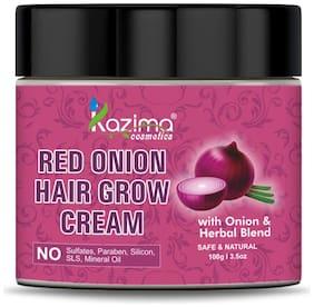 KAZIMA Red Onion Hair Growth Cream with Onion Oil & Herbal Blend (100g)